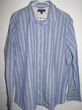 BANANA REPUBLIC SLIM FIT MEN'S LONG SLEEVE BUTTON FRONT SHIRT XXL 18-18 1/2