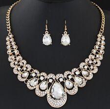 Fashion Charm Pendant Chain Crystal Jewelry Choker Chunky Statement Bib Necklace New14 Clear