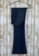 7 For All Mankind 7FAM Slim Trouser High Waist Flare Jeans Sz 27 Classic $198