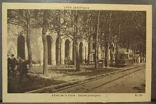 cpa 69 foire de lyon palais entree principale tramway tram