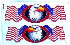 1Bogen = AUFKLEBER Sticker Tribal USA Amerika Adler Flagge eagle  26,5x17,5 cm