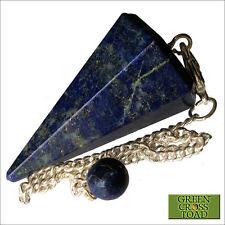 I Lapislazzuli PUNTO BLU CRYSTAL Gemstone Dowsing pendolo dowser