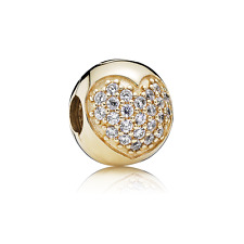 Pandora Love of My Life Clip 14K Gold & Clear CZ Charm