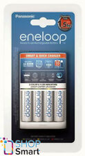 PANASONIC ENELOOP SMART QUICK CHARGER BQ-CC55E + 4 RECHARGEABLE AA BATTERIES NEW