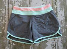 IVIVVA by Lululemon RELAY RACER Athletic Shorts Gray Green Girls Gym Sport 14