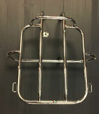 Rear back carry rack & spare wheel holder s/steel for Lambretta LD by Cuppini