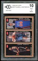 2008-09 FLeer #237 Kevin Love / Russell Westbrook Rookie Card BGS BCCG 10 Mint+