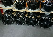 "Ex Display 18"" Audi TTRS Rotor Style Gloss Black Alloy Wheels - Audi A3 + more"