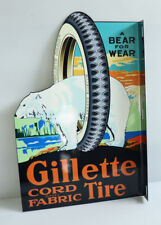Gillette Cord Tires With Polar Bear Flange Sign Gas Oil auto Modern retro