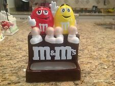 M&M's Candy Ceramic Candy Dish Cookie Jar Red / Yellow Excellent condition !