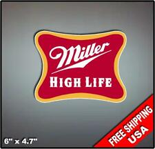 """Miller High Life Set of (2) 6"""" Vinyl Decals Stickers Baggo Toss Beer Mancave"""
