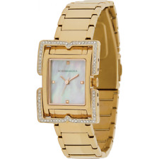 BCBG MAXAZRIA Women's Square Face Rose Gold Plated Strap Watch & Box - RRP £140