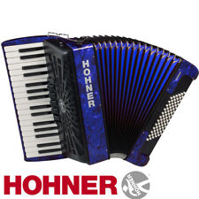 Hohner Piano Accordion Bravo III 72, Pearl Dark Blue, with Gig Bag & Straps