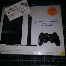 FACTORY SEALED PS2 PLAYSTATION 2 SLIM BLACK CONSOLE-MINT CONTENTS, MINOR BOX DMG
