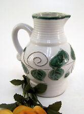 Henkelkrug Krug Keramik offwithe mit grün VEB Strehla Keramik Höhe ca. 14,5 cm