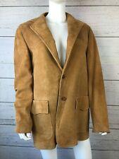 Craftsmen Vintage Cresco Suede Leather Men's Coat Size 40L