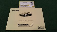 1989 NESS MOTORS Inverness RENAULT PRICE LIST + CARD 5 19 21 25 VANS UK BROCHURE