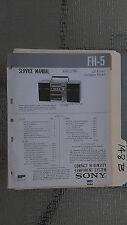 Sony fh-5 service manual original repair book stereo boombox radio tape player