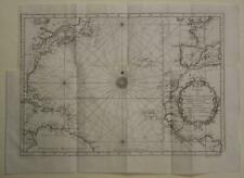 ATLANTIC OCEAN AMERICAS WESTEN EUROPE NORTHWEST AFRICA 1746 BELLIN ANTIQUE CHART