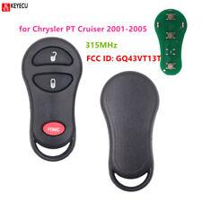 3Button 315MHz Remote car Key for Chrysler PT Cruiser 2001-2005 FCC ID:GQ43VT13T
