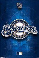 MILWAUKEE BREWERS ~ DIAMOND LOGO ~ 22x34 POSTER ~ MLB Major League Baseball