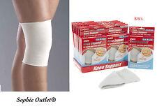 LARGE Elasticated Knee Support Sports Bandage Brace Gym Injury Arthrits Sleeve