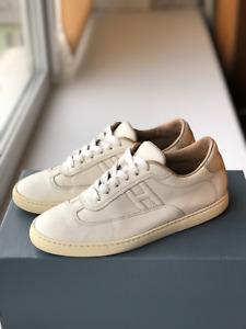Hermès Quicker Sneaker Shoes Calfskin size 37(US 6) White/Silver Rare
