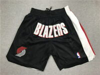 Men's Portland Trailblazers Shorts Black All Stitched