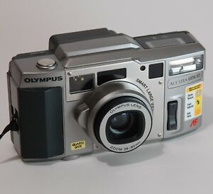 MINT Olympus Accura View 80 35mm Film Camera Point and Shootwith Box TESTED
