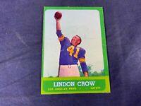 R4-87 FOOTBALL CARD - LINDON CROW LOS ANGELES RAMS - 1963 TOPPS - #48