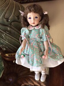 """The Ultimate Doll Collection 14"""" Porcelain Doll  By Artist Diana Effner"""