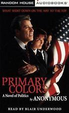 Primary Colors A Novel of Politics Audiobook Cassette New