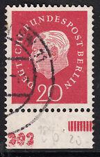 ❷❷ Berlin 184 Teil HAN Plattendruck Unterrand  gep. A. Schlegel BPP RARITÄT