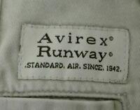 AVIREX RUNWAY - chinos - 31 - 100% cotone - beige / kaki - pinces - originali