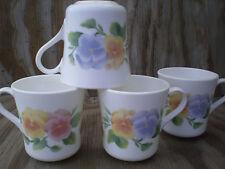 Corelle Dishes Summer Blush Swirled Cups Mugs Set Of 4