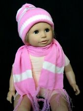 Children - Baby Knitted Cap And Scarf Set - New (6-9)