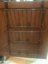 """Bronze 3 tier hanging storage pantry kitchen bathroom Euc fits door up to 1 1/2"""""""