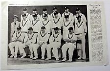 1936 ENGLAND TOURING CRICKET TEAM  NEWSPAPER SUPPLEMENT 'THE NEWS'