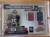"Andre Johnson 2003 Absolute Memorabilia ""Rookie Premiere Materials"" Card"