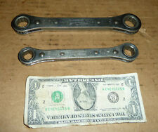 """Vintage 2 WILLIAMS Ratchet Wrenches,Old USA Tools,11/16"""",5/8"""",9/16,1/2"""",Mechanic"""