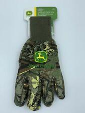 John Deere Camo Light-duty Cotton Grip Gloves - Size Large