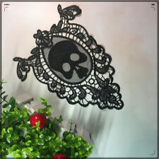 Skull Guipure Embroidery Lace Trim Sew Wedding Dress Back Patch Craft Applique