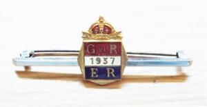 King George VI Vintage 1937 Coronation Enamel Tie Pin Badge