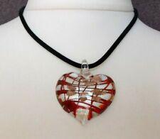 STRIKING Morano Glass Heart Pendant Delicious Boho