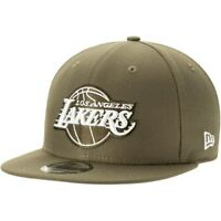 Los Angeles Lakers New Era Olive 9FIFTY Adjustable Snapback Hat - Green