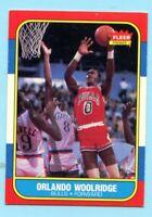 1986-87 Fleer Basketball Orlando Woolridge # 130 Chicago Bulls