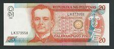 PHILIPPINES  20  PISO 1998     P-182b  UNC