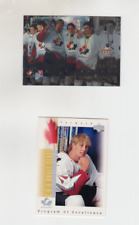 Lot 2 cards rc 1996-97 Joe THORNTON UD Ice+UD POE Toronto BV$$