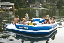 Inflatable Mega Island Sea Doo 8 Person Party Raft Float Music System NEW