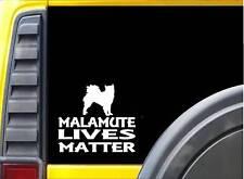 Malamute Lives Matter Sticker k140 6 inch alaskan sled dog decal